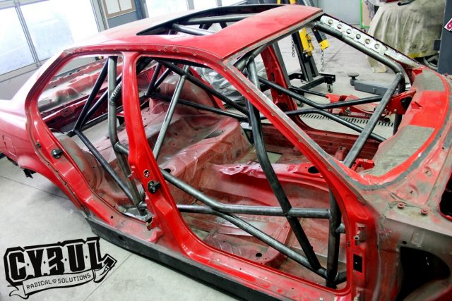 BMW E36 sedan limusine roll cage by Cybul