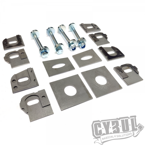 BMW E30 Z3 E36 compact rear subframe modification kit for toe-in camber adjustment