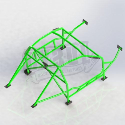 BMW E92 V3 roll cage with NASCAR door bars by Cybul Radical Solutions